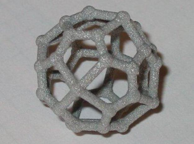 Pentagonal icositetrahedron 3d printed The real thing in alumide