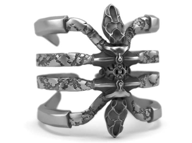 Recluse - Detailed Sterling Silver Ring