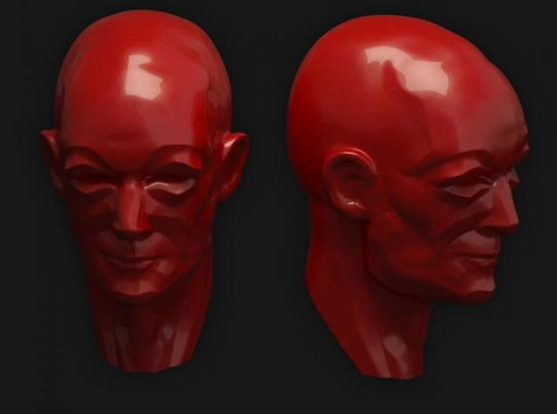 Blind 3d printed Portrait study of a blind mid-age man