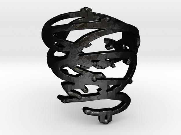 ESH6RING in Matte Black Steel