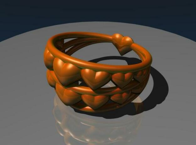 Heart Ring 3d printed Render 2