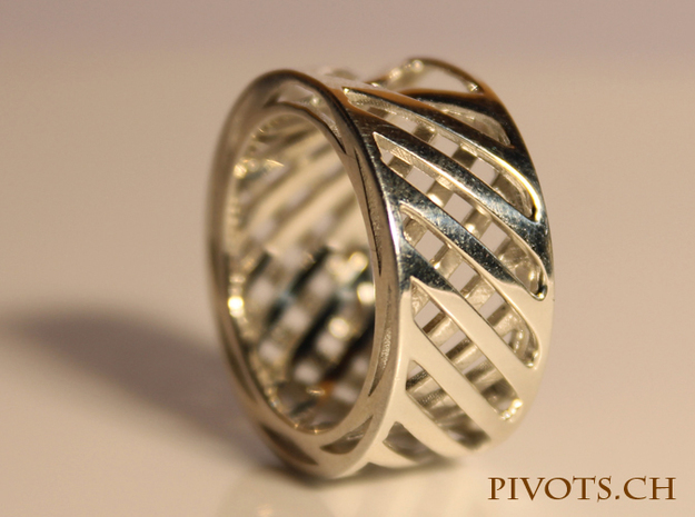 Double Wire Ring in Fine Detail Polished Silver