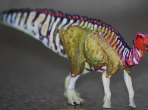 Gryposaurus Dinosaur Small HOLLOW 3d printed My Gryposaurus that I painted. If you would like to know about the painted figures and what I have available visit my blog at http://www.art-by-angie.blogspot.com/