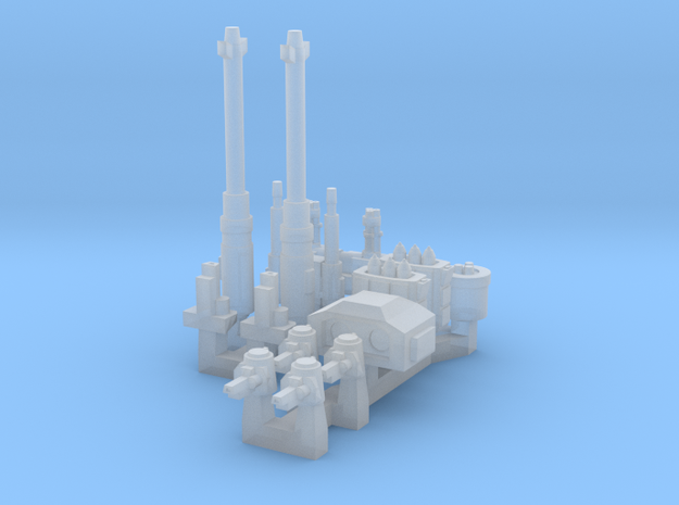 Turrets And Weapons One in Smoothest Fine Detail Plastic