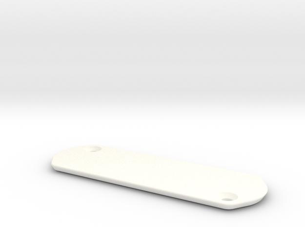 Trek Madone Series 9 Access Plate - Blank in White Processed Versatile Plastic