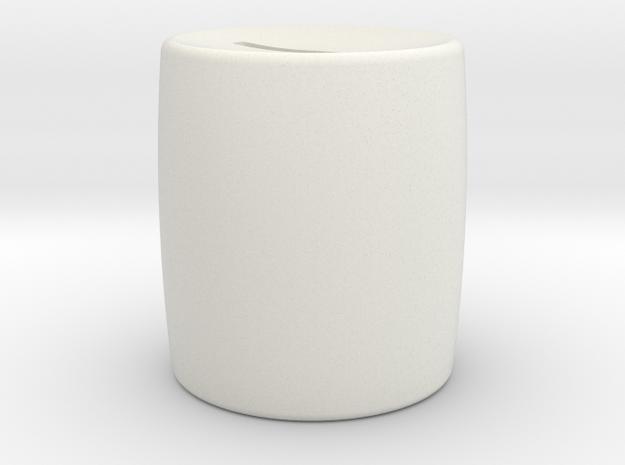 Moneybox mini in White Natural Versatile Plastic