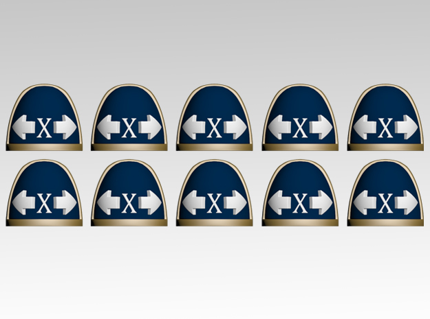 Tactical X V.7 Shoulder Pads x10 in Frosted Extreme Detail