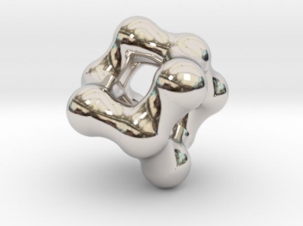 Adamantane Pendant in Rhodium Plated Brass