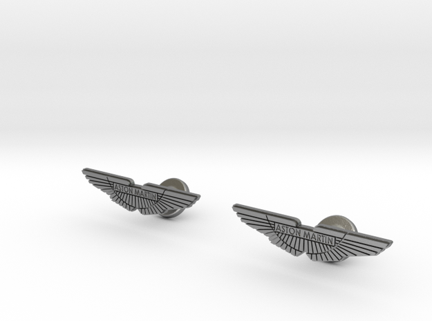 Aston Martin Cufflinks in Natural Silver