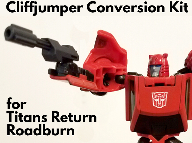 Titans Return Cliffjumper Upgrade Kit in Smooth Fine Detail Plastic