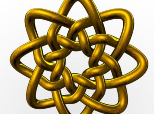 Celtic Knots 05 3d printed Rendered in gold with Maya.