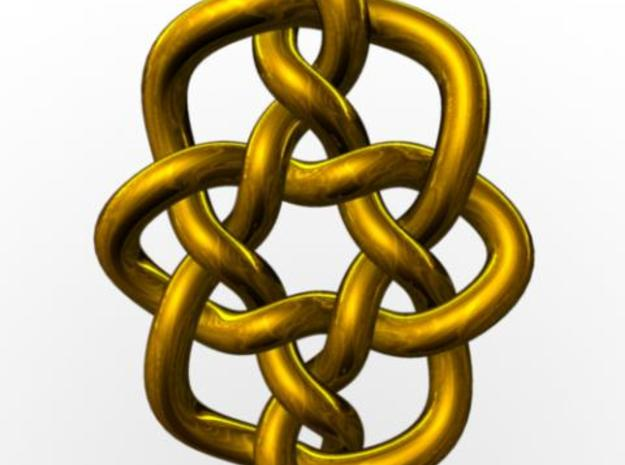 Celtic Knots 08 3d printed Rendered in gold with Maya.