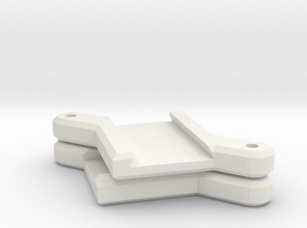 90 Degree Crossover in White Natural Versatile Plastic