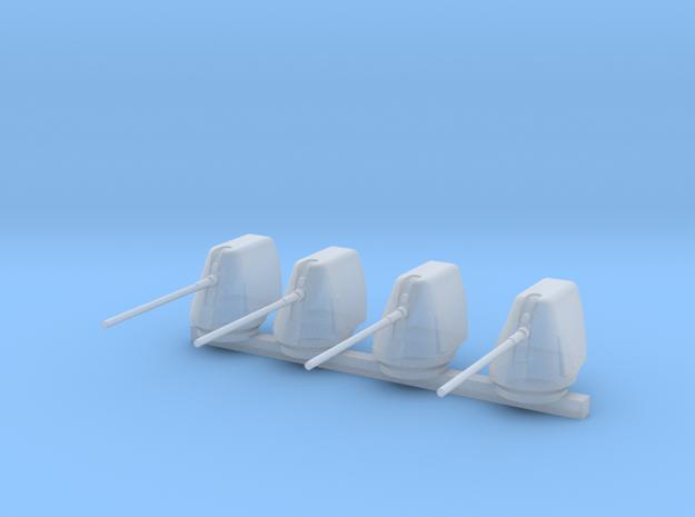 1/300 Scale 5 In 54 Cal Mk 45 Naval Gun Set Of 4 in Smooth Fine Detail Plastic