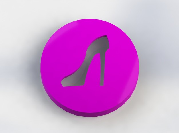 Stiletto Ear Bud Cover for GLASS in Purple Processed Versatile Plastic