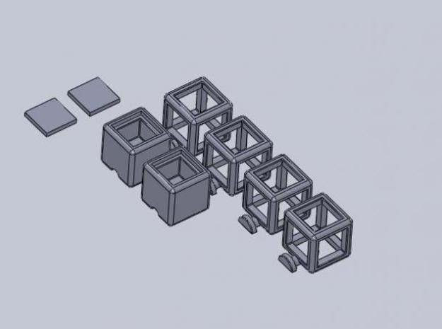 Partially Hollow 1x2x3 3d printed Description