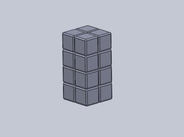 2x2x4 Rubiks Cube 3d printed Description