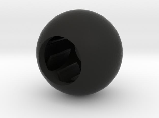 Acoustic Sphere (12.8mm mic) (25mm diameter) in Black Natural Versatile Plastic