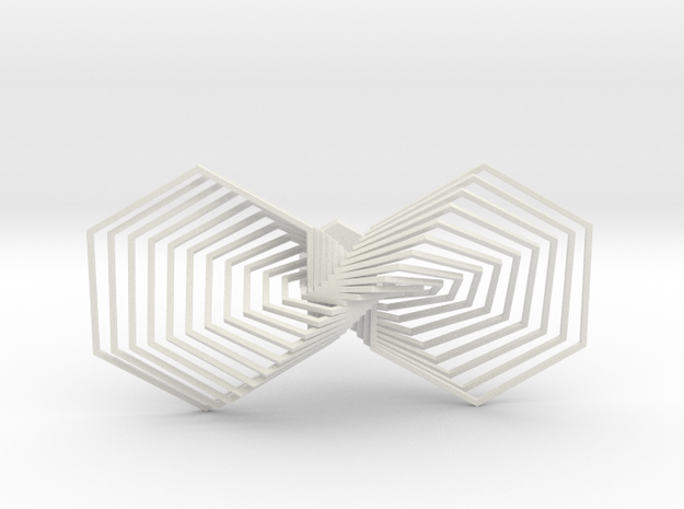Hexagon Line Bowtie