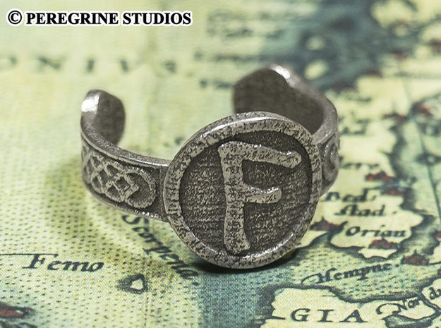 Ring - Ansuz Rune (Size 13) in Stainless Steel