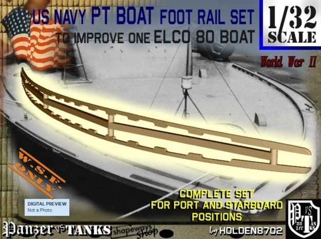 1-32 Elco 80 Foot Rail For PT Boat