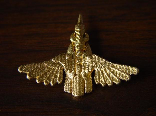 Kingfisher 3d printed Gold plated 1