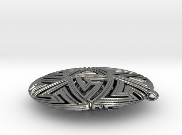 Icosapendant in Polished Silver