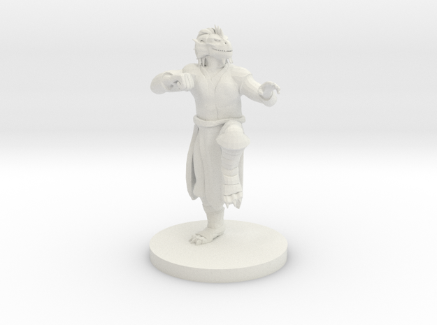 Dragonborn Male Monk in White Strong & Flexible