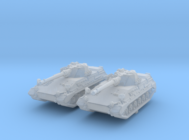1/285 (6mm) German Begleitpanzer 57 Light Tank x2 in Smooth Fine Detail Plastic