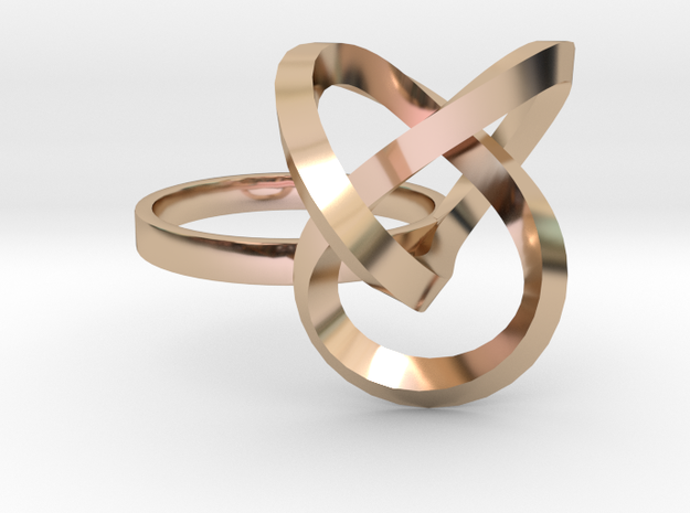 Bague Torsale Taille 50 in 14k Rose Gold Plated