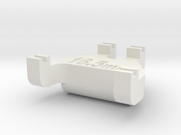 HO Track Gauge - Code 100 in White Natural Versatile Plastic
