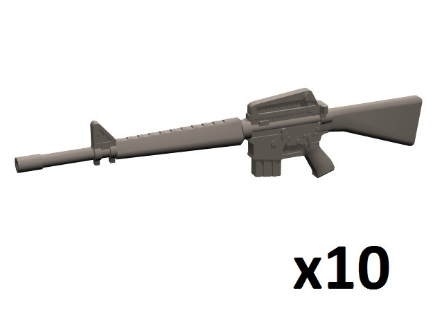 1/35 M16A1 rifles in Smoothest Fine Detail Plastic