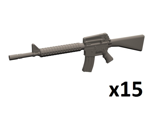 1/35 M16A2 rifles in Smooth Fine Detail Plastic
