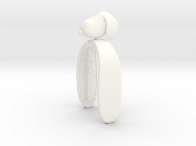 SNOOPY KEY FOB  in White Processed Versatile Plastic