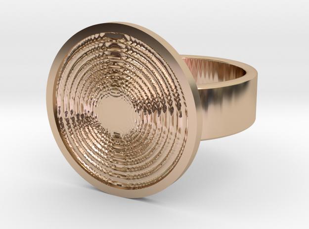 Vortex Ring in 14k Rose Gold Plated Brass: 10 / 61.5