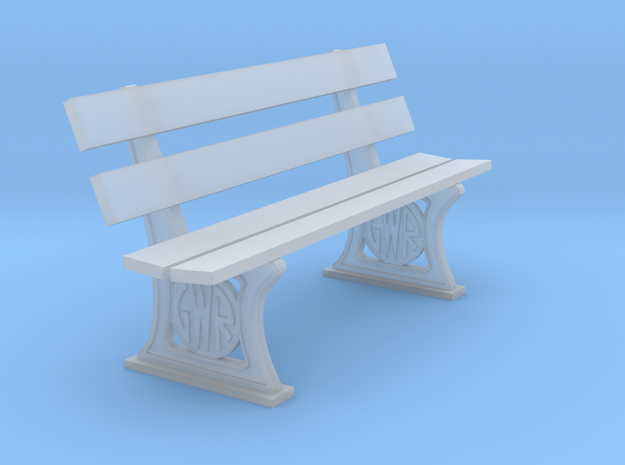 GWR Bench later style 4mm in Smooth Fine Detail Plastic