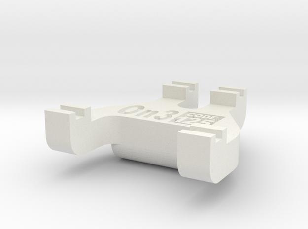On3 Track Gauge - Code 125 in White Natural Versatile Plastic