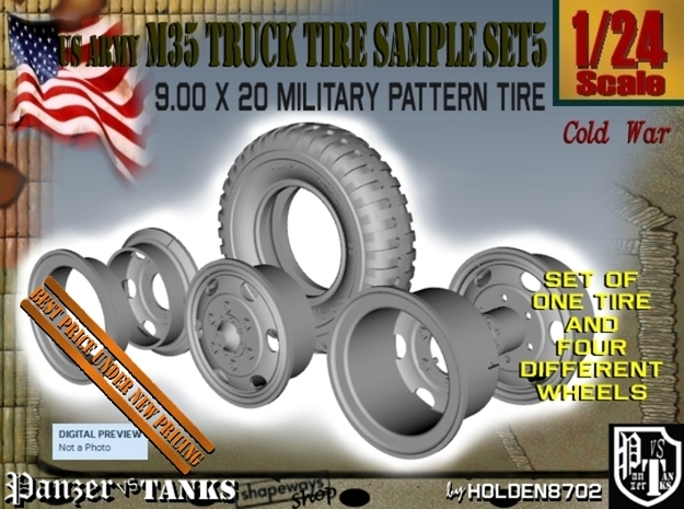 1-24 900x20 M35 Tire And Wheels Sample Set5
