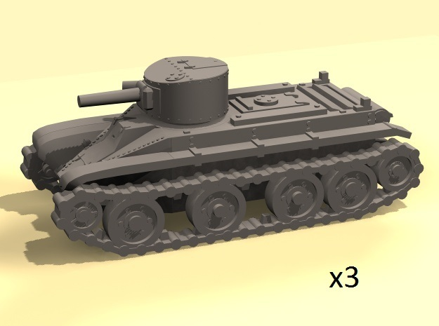 1/160 scale BT-2 tanks in Smooth Fine Detail Plastic