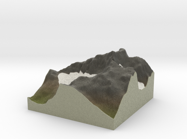 Terrafab generated model Tue Jan 24 2017 18:12:51  in Full Color Sandstone