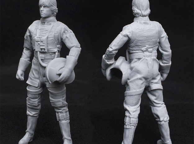 Standing Pilot 1/24 Scale for Studio Scale X-Wing  in Frosted Ultra Detail