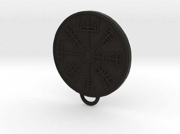 Vegvisir pendant in Black Natural Versatile Plastic