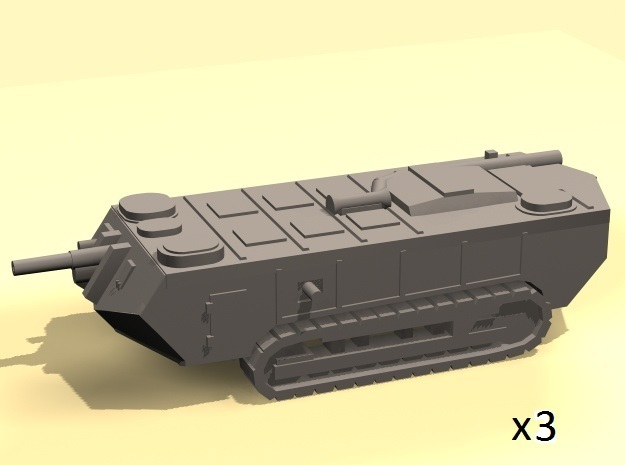 1/220 Saint-Chamond tanks (early) x3 in Frosted Ultra Detail