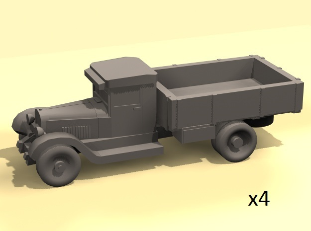 1/220 scale ZIS-5 truck in Smooth Fine Detail Plastic