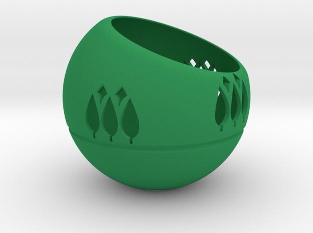 圓球樹.stl in Green Strong & Flexible Polished