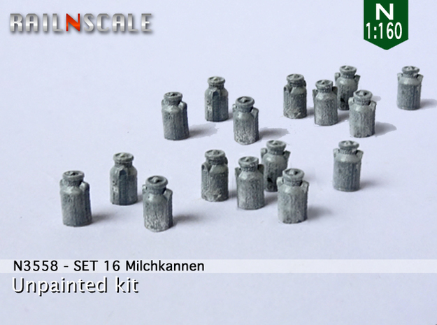 16 Milchkannen (N 1:160) in Frosted Extreme Detail