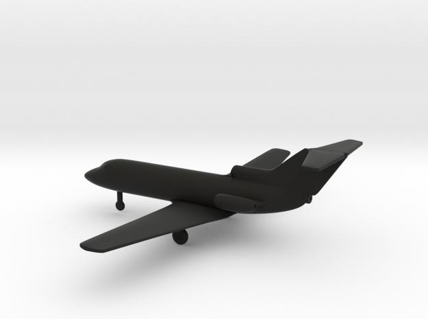 Yakovlev Yak-40 Codling in Black Natural Versatile Plastic: 6mm