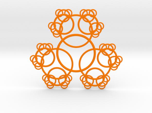 Tri-Circle Fractal in Orange Strong & Flexible Polished