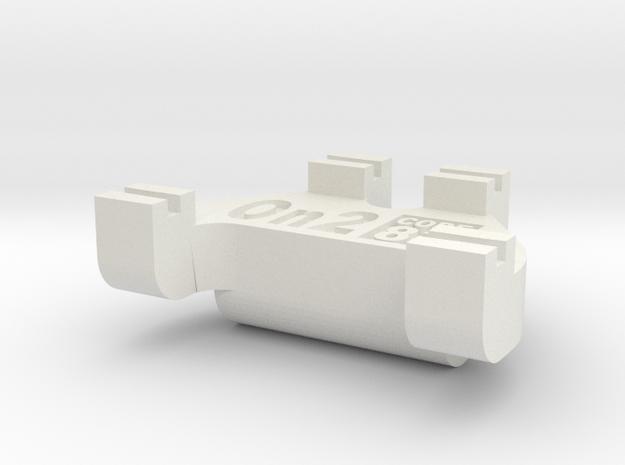 On2 Track Gauge - Code 83 in White Natural Versatile Plastic