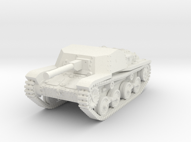 1/100 (15mm) Type 5 Ho-Ru tank destroyer in White Strong & Flexible